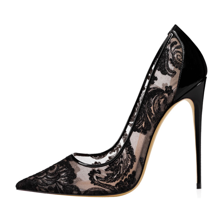 Wedding 2021 Hollow Out High Heel Pointed Toe Pumps Shoes