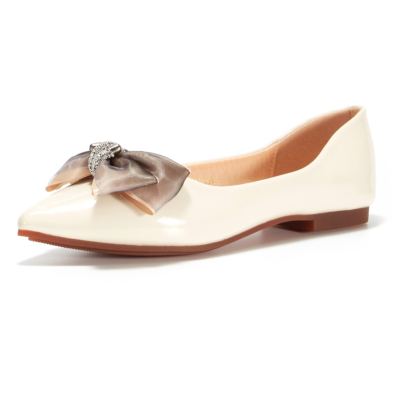 2021 Bow Dress Flats Pointed Toe Comfortable Flat Shoes