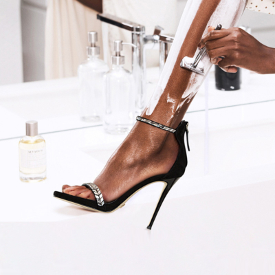 Ankle Strap Rhinestones Party Sandals with Stiletto Heels 120mm