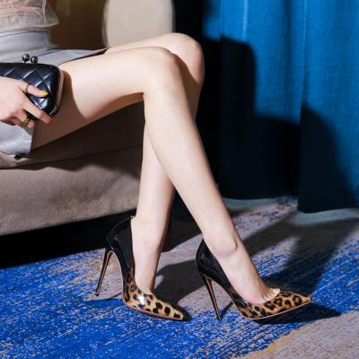 Black &Leopard Gradient Heels Bridal Stiletto Heel Pumps