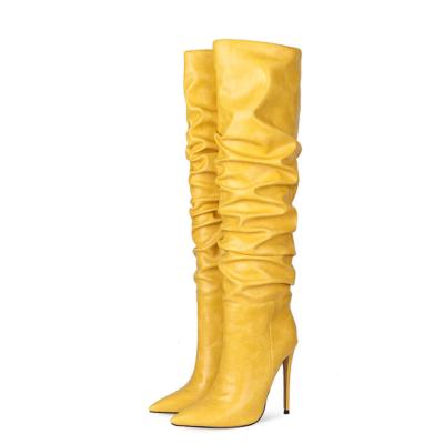 Classic Women's Stiletto Heel Over-the-Knee Dancing Boots