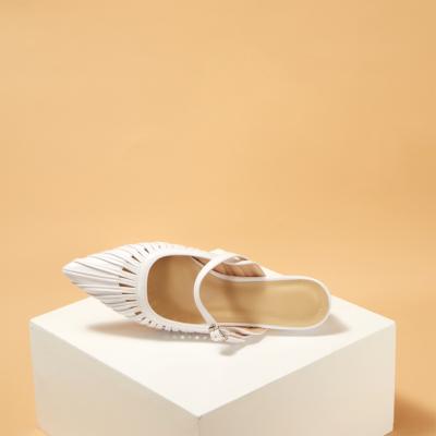 Cute Buckle Slingback Mary Jane Shoes Low Heel Pumps