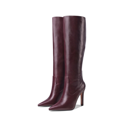 Dance Boots Pointy Toe Stiletto Knee High Boots