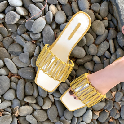 Fashion Woven Slipper Shoes Hollow Out Slide Sandals