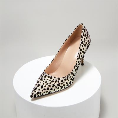 Black Glitter Leopard Prints Dress Shoes Stilettos Heel Sequin Pumps For Wedding