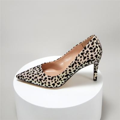 Glitter Leopard Prints Dress Shoes Stilettos Heel Sequin Pumps For Wedding