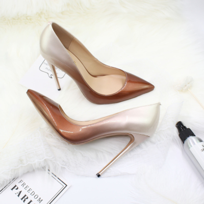 Gradient High Heels Shoes Pointed Toe 2021 Dresses Pumps