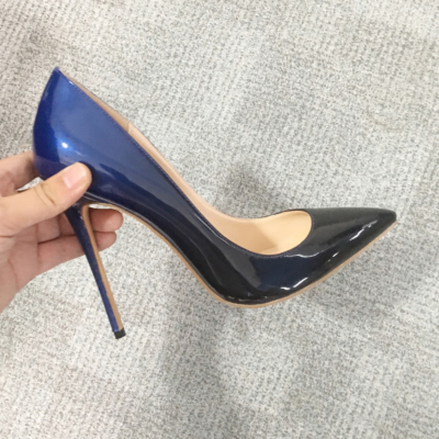 Blue&Black Gradient High Heels Shoes Pointed Toe 2021 Pumps