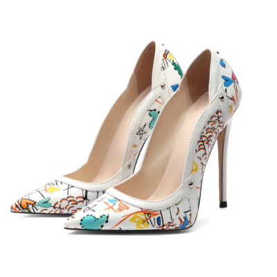Graffiti Stiletto Pumps 5
