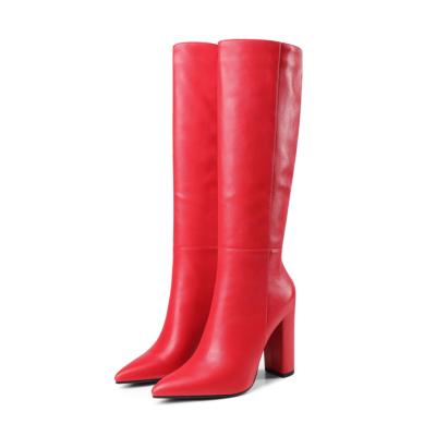 Heeled Dress Mid Calf Boots Knee High Boot