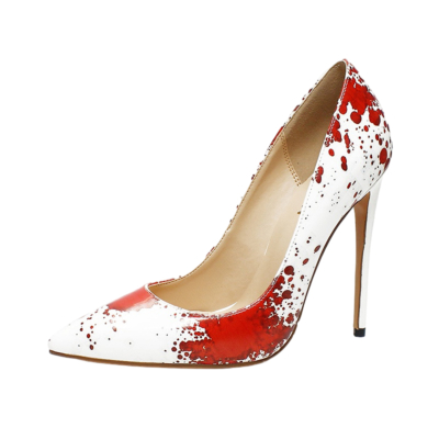 Ladies Scrawl Pumps Stilettos Pointed Toe Party Shoes Heels 5 inch