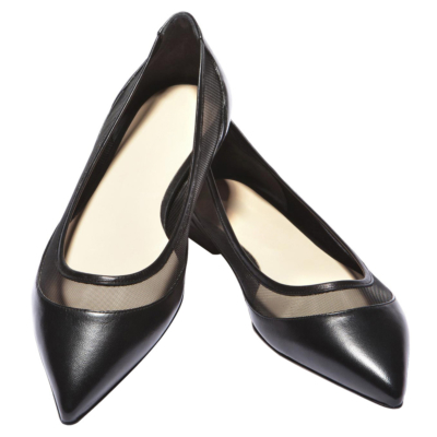 Mesh Flats Shoes Womens Pointed Toe Work Pumps