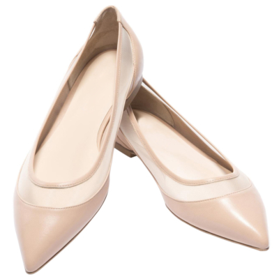 Pink Mesh Flats Shoes Womens Pointed Toe Work Pumps