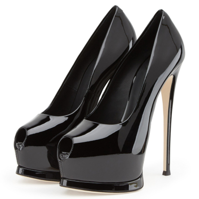 Peep Toe Platform Pumps with Stiletto Heels Dresses Shoes