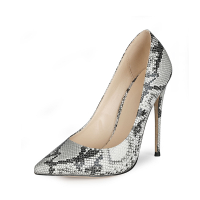 Sexy Animal Printed Stiletto Pumps Poined Toe 5 inches Heels Shoes