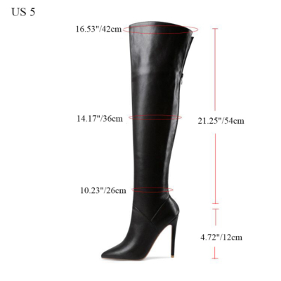 Sexy Heeled Zipper Tall Boots Over-the-knee Boots