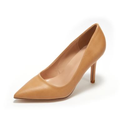 Nude Synthetic Sexy Pointy Toe Stiletto Heel Womens Dress Shoes Pumps