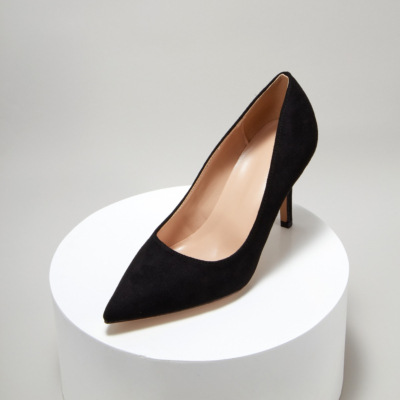 Black Suede Sexy Pointy Toe Stiletto Heel Womens Dress Shoes Pumps