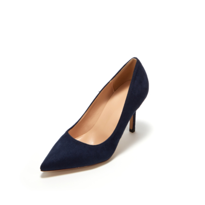 Navy Suede Sexy Pointy Toe Stiletto Heel Womens Dress Shoes Pumps