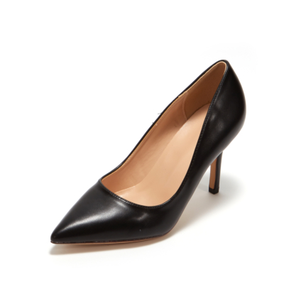 Black Synthetic Sexy Pointy Toe Stiletto Heel Womens Dress Shoes Pumps