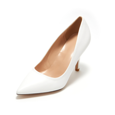 White Synthetic Sexy Pointy Toe Stiletto Heel Womens Dress Shoes Pumps