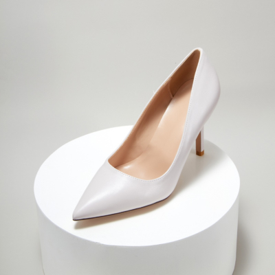 Light Grey Synthetic Sexy Pointy Toe Stiletto Heel Womens Dress Shoes Pumps