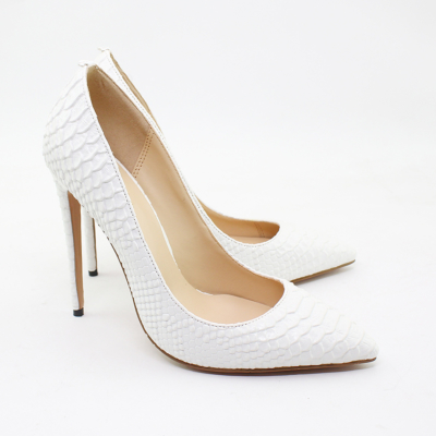 Snakeskin Prints Stiletto High Heel Pumps Pointed Toe Party Shoes