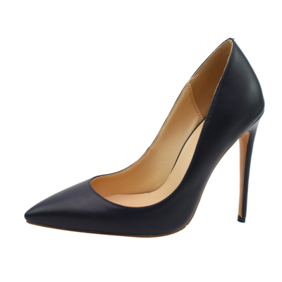 Navy Dresses Matte Pumps Pointed Toe 2021 Stiletto High Heels Shoes