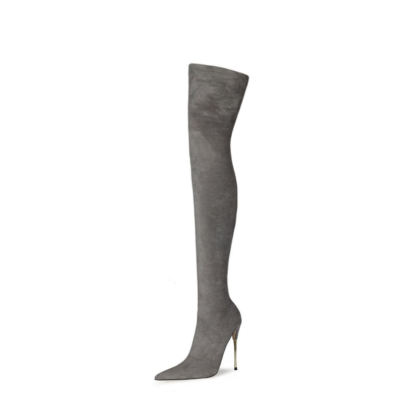 Stretch Long Boot Elastic Over The Knee Thigh High Boots 120 mm Heels