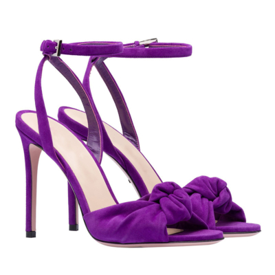Suede Stiletto Slingback Ankle Strap 5