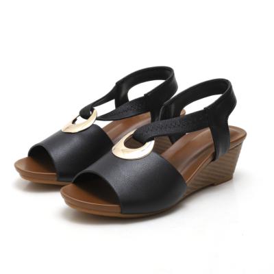Black Summer Comfortable Wedge Sandals Dance Shoes
