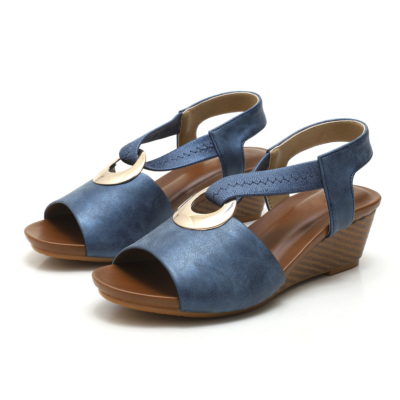 Navy Summer Comfortable Wedge Sandals Dance Shoes