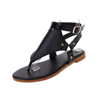 Trendy Animal Print Flip Flap Sandals Ankle Strap Rivet Slingback Flats