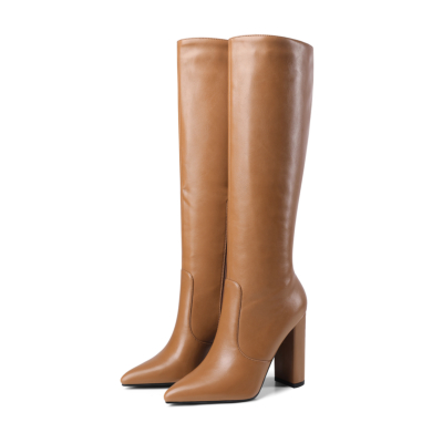 Waterproof Ladies Heeled Knee High Boots Riding Boot