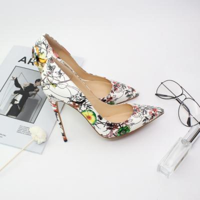 Multicolor Floral Embossed Dresses Stilettos Pumps Wedding High Heel Shoes