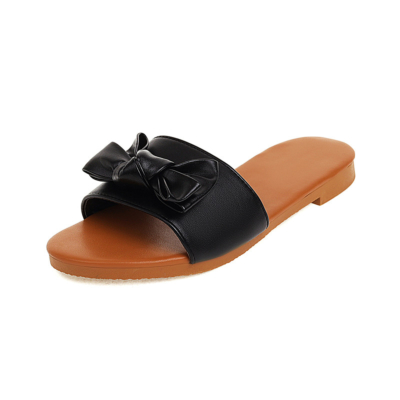 Women's Comfortable Slide Sandals Flats Beach Sandal with Bow