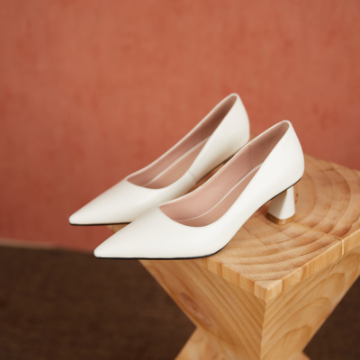 Women's Comfy Work Pumps Low Heel Spring Shoes