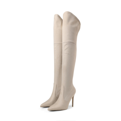 Women's Dress Pull-on Boots Stretch Over-The-Knee Boots