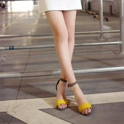Horsehair Open Tote Ankle Strap Sculptural Heels Sandals