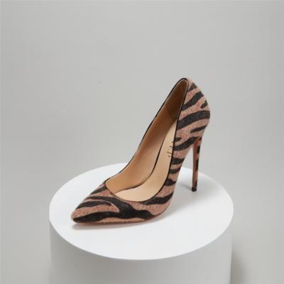 Zebra Print Pointed Toe Stiletto Heel Pumps