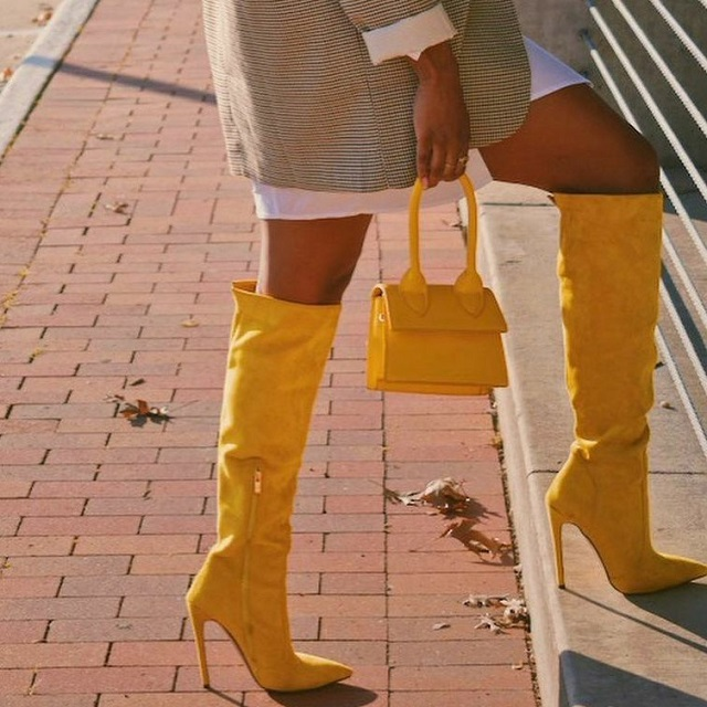 Shawnte's Yellow Boots To Style With Suits