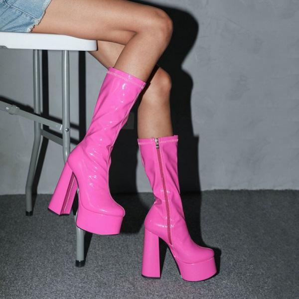 Love Minimalist Platform Boots Heels